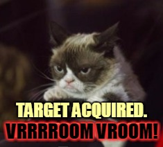 TARGET ACQUIRED. VRRRROOM VROOM! VRRRROOM VROOM! | made w/ Imgflip meme maker