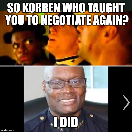 Now the question from 5th element gets answered  | SO KORBEN WHO TAUGHT YOU TO NEGOTIATE AGAIN? I DID | image tagged in dallas shooting,sci-fi,polandball | made w/ Imgflip meme maker