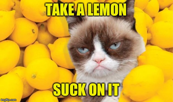 TAKE A LEMON SUCK ON IT | made w/ Imgflip meme maker