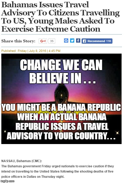 "Thanks Obama ! In answer to the question of ""are we there yet?"" 