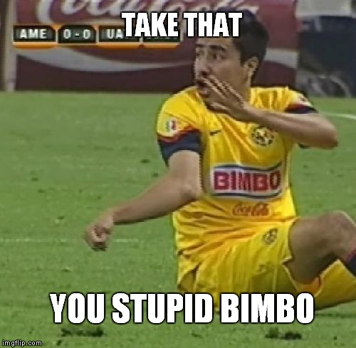 Take That | TAKE THAT YOU STUPID BIMBO | image tagged in memes,efrain juarez,broken arm,bimbo,take that | made w/ Imgflip meme maker