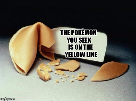 "Unfortunate cookie. Anyone elses mom tell them to go play on ""the yellow line"" as a kid? (Being the middle of the street) 