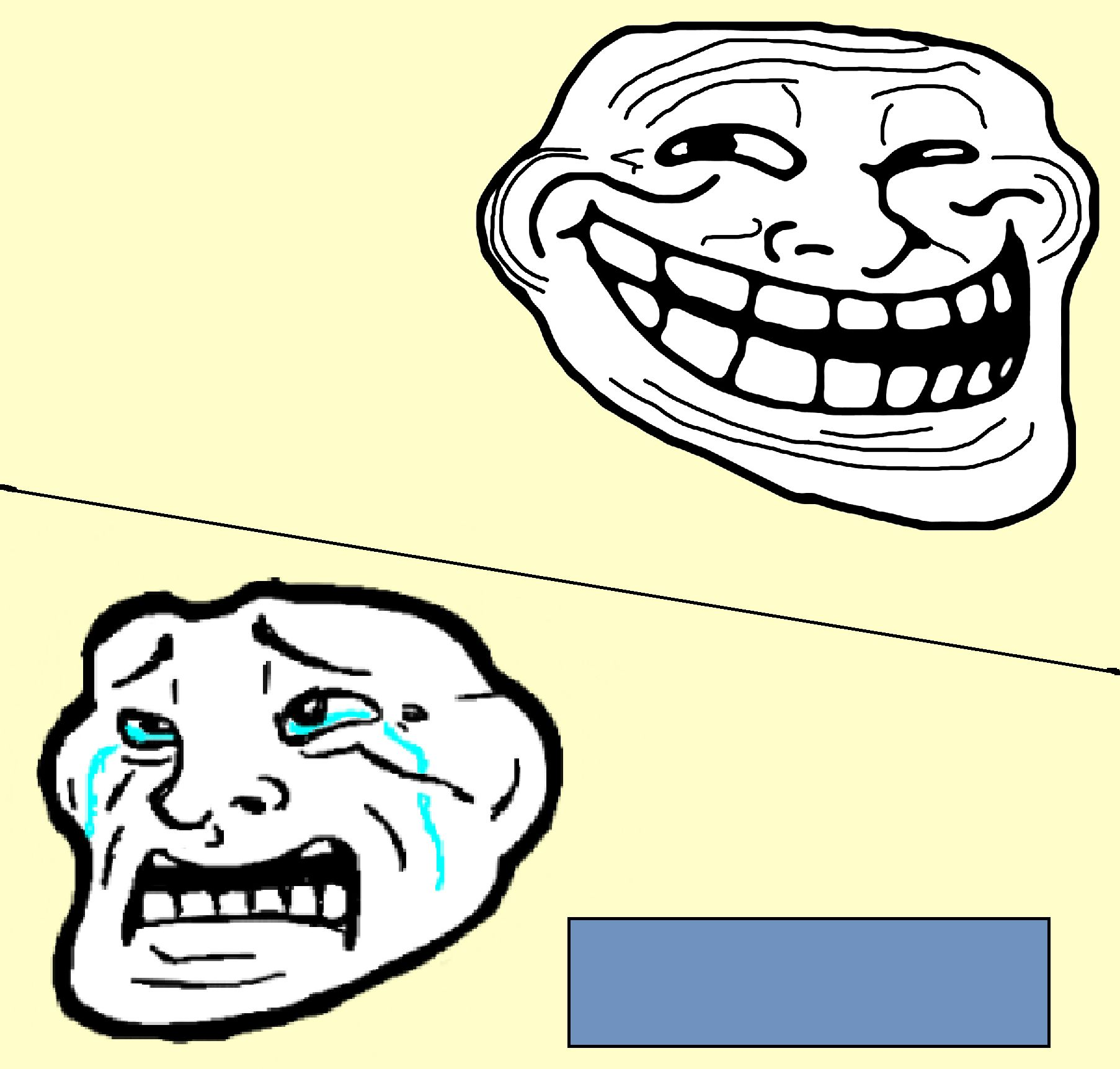 Crying Troll Face Blank Template - Imgflip