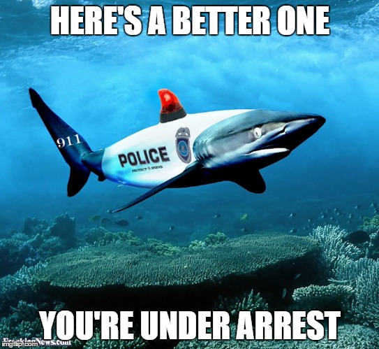 HERE'S A BETTER ONE YOU'RE UNDER ARREST | made w/ Imgflip meme maker