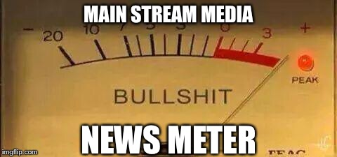 There Is Nothing LEFT Except Drudge  | MAIN STREAM MEDIA NEWS METER | image tagged in msm,news,cnn,abc,nbc,cbs | made w/ Imgflip meme maker