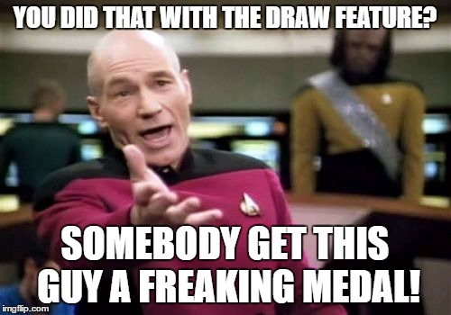 Picard Wtf Meme | YOU DID THAT WITH THE DRAW FEATURE? SOMEBODY GET THIS GUY A FREAKING MEDAL! | image tagged in memes,picard wtf | made w/ Imgflip meme maker