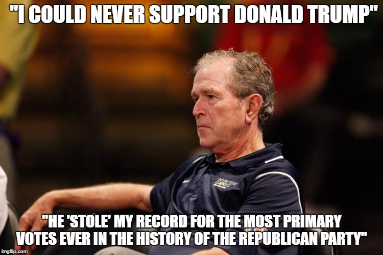 """I COULD NEVER SUPPORT DONALD TRUMP"" ""HE 'STOLE' MY RECORD FOR THE MOST PRIMARY VOTES EVER IN THE HISTORY OF THE REPUBLICAN PARTY"" 