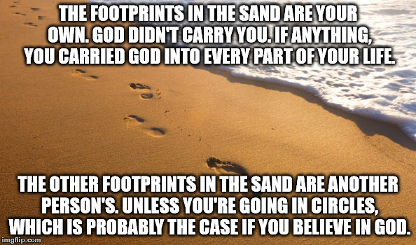 17j6qn footprints in the sand imgflip