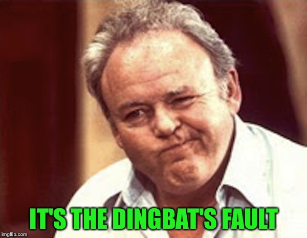 IT'S THE DINGBAT'S FAULT | made w/ Imgflip meme maker