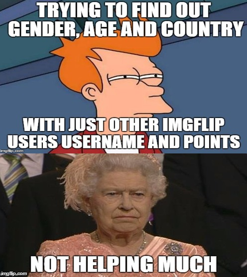 Detective Queen Elizabeth | image tagged in futurama fry,queen elizabeth,funny memes,funny meme,memes,queen elizabeth london olympics not amused | made w/ Imgflip meme maker