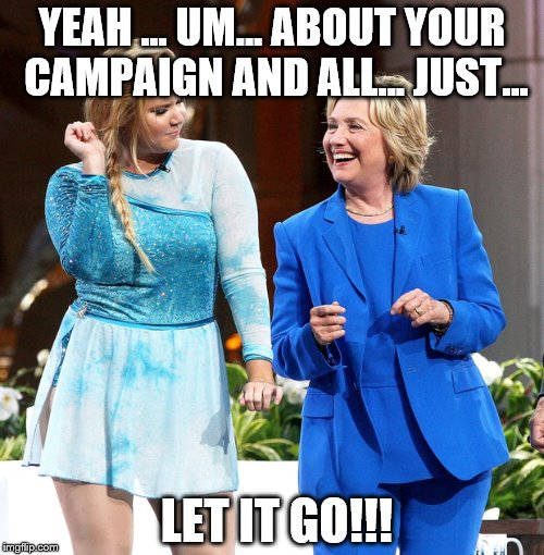 image tagged in hillary frozen imgflip
