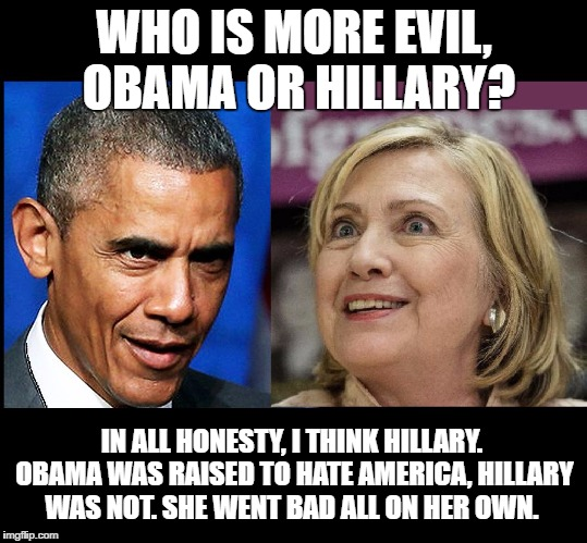 Image result for obama hates hillary meme