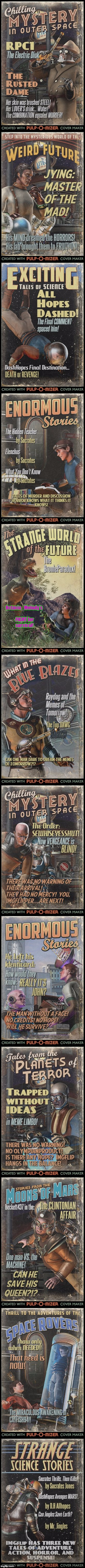 IMGflip Covers | Octavia_Melody's FIGHT for survival! | image tagged in pulp art | made w/ Imgflip meme maker