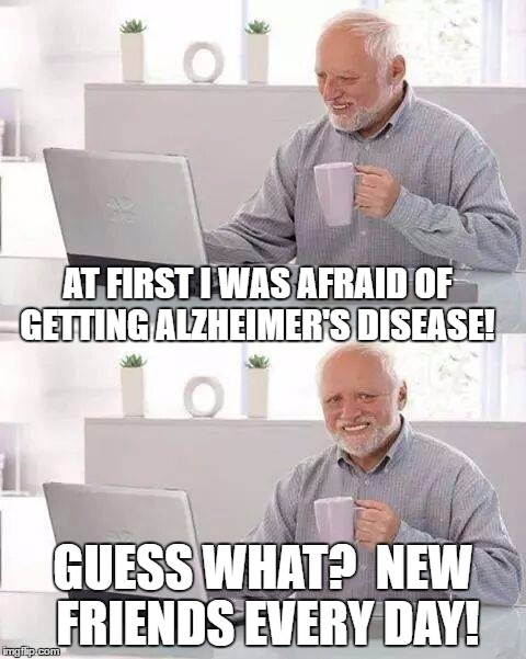 hide the pain harold in i almost forgot how to spell alzheimers