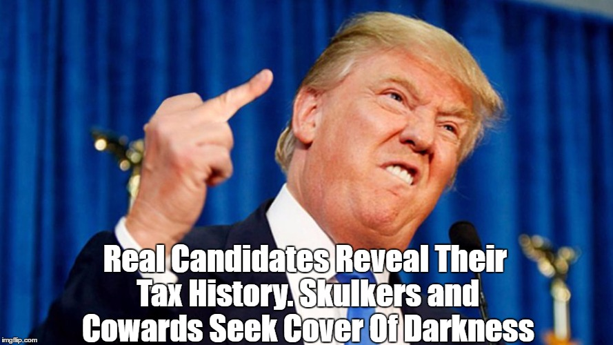 Real Candidates Reveal Their Tax History. Skulkers and Cowards Seek Cover Of Darkness | made w/ Imgflip meme maker