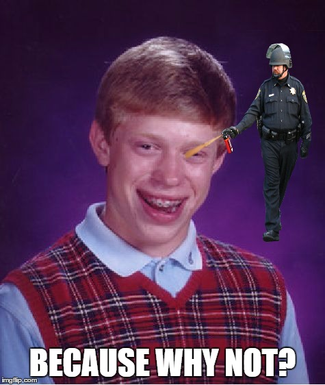 Bad Luck Brian Meme | BECAUSE WHY NOT? | image tagged in memes,bad luck brian | made w/ Imgflip meme maker