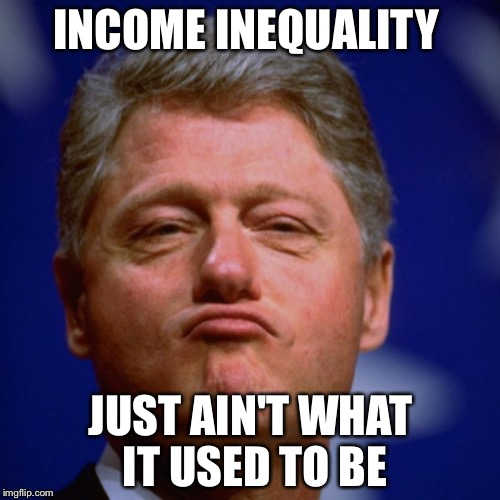 INCOME INEQUALITY JUST AIN'T WHAT IT USED TO BE | made w/ Imgflip meme maker