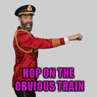 HOP ON THE OBVIOUS TRAIN | made w/ Imgflip meme maker