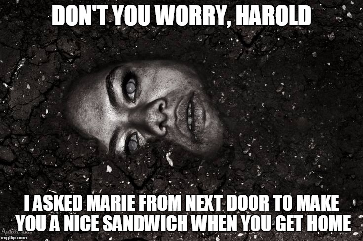 DON'T YOU WORRY, HAROLD I ASKED MARIE FROM NEXT DOOR TO MAKE YOU A NICE SANDWICH WHEN YOU GET HOME | made w/ Imgflip meme maker
