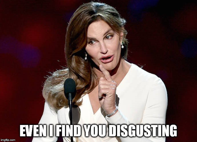 Taco Caitlyn | EVEN I FIND YOU DISGUSTING | image tagged in taco caitlyn | made w/ Imgflip meme maker