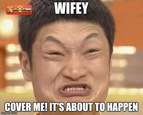 WIFEY COVER ME! IT'S ABOUT TO HAPPEN | made w/ Imgflip meme maker