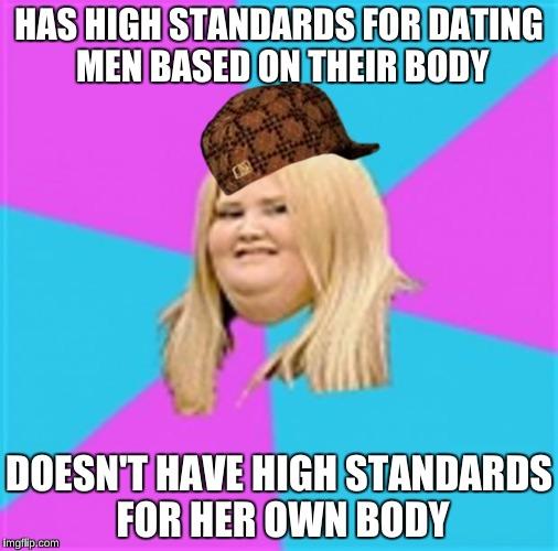 Fat girl dating standards