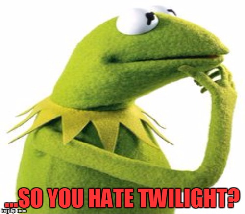 ...SO YOU HATE TWILIGHT? | made w/ Imgflip meme maker