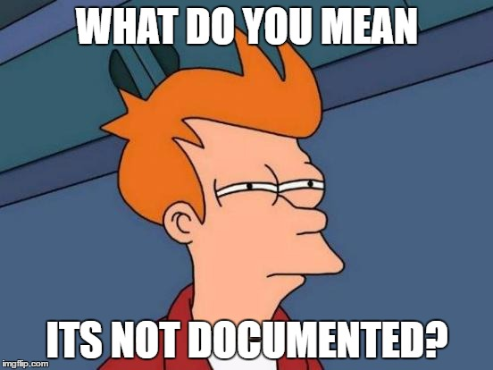 Futurama Fry Meme | WHAT DO YOU MEAN ITS NOT DOCUMENTED? | image tagged in memes,futurama fry | made w/ Imgflip meme maker