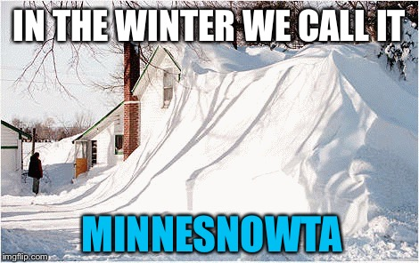 IN THE WINTER WE CALL IT MINNESNOWTA | made w/ Imgflip meme maker
