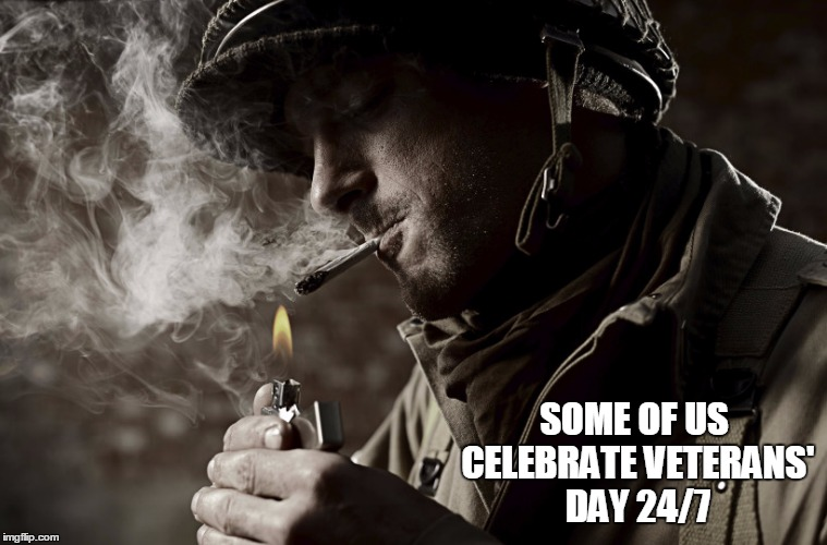SOME OF US CELEBRATE VETERANS' DAY 24/7 | made w/ Imgflip meme maker