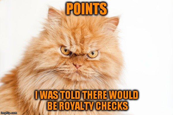 POINTS I WAS TOLD THERE WOULD BE ROYALTY CHECKS | made w/ Imgflip meme maker