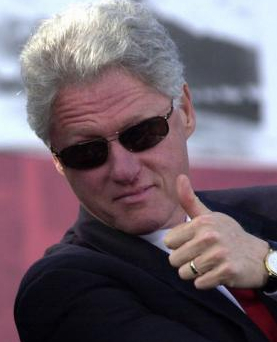 Image result for bill clinton thumbs up
