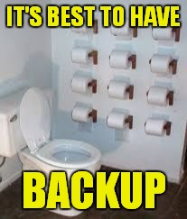 IT'S BEST TO HAVE BACKUP | made w/ Imgflip meme maker