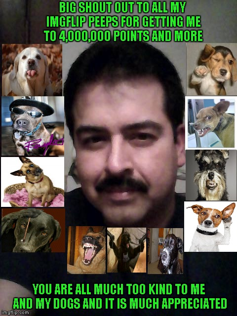 "Ok...I did it! Now you can put a ""REAL"" face to all the dogs. Look at those ""evil"" looking eyes!!! 