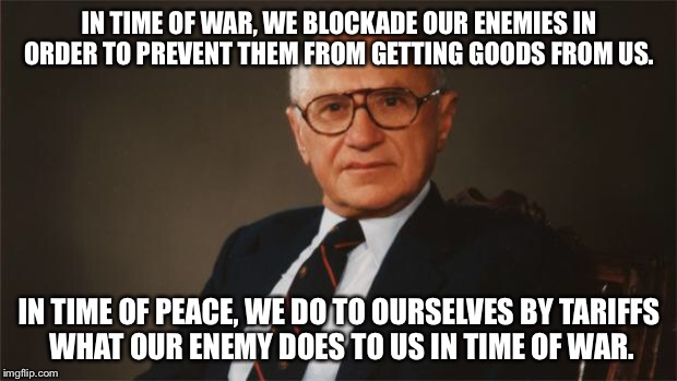 Milton Friedman Quotes Cool Milton Friedman Quote That Someone Should Pass Along To Trump Imgflip