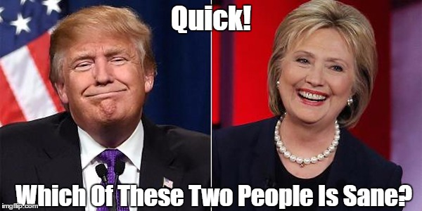 Quick! Which Of These Two People Is Sane? | made w/ Imgflip meme maker