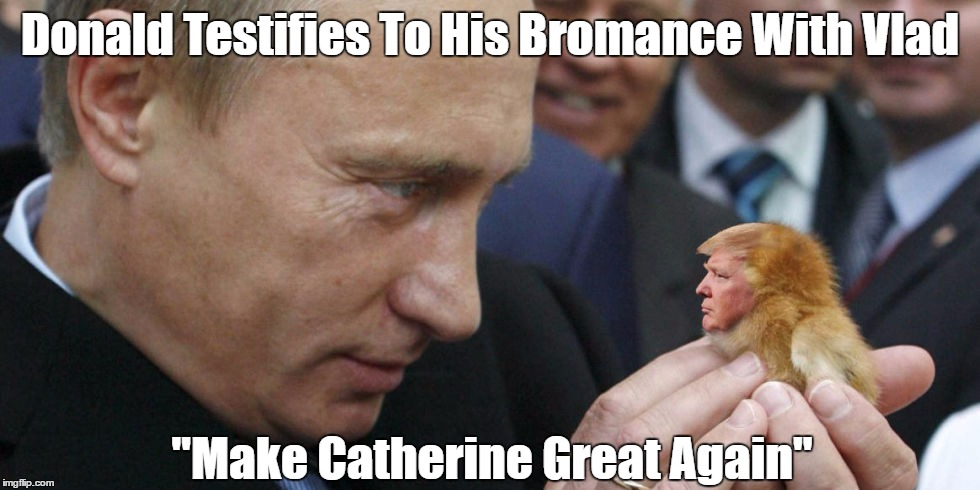 "Donald Testifies To His Bromance With Vlad ""Make Catherine Great Again"" 