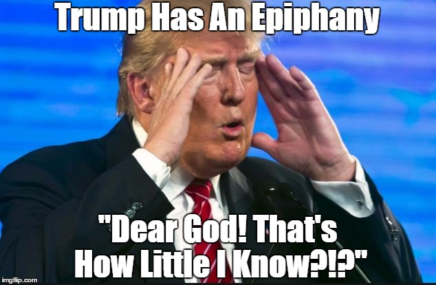 "Trump Has An Epiphany ""Dear God! That's How Little I Know?!?"" 