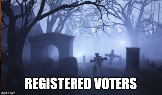 REGISTERED VOTERS | made w/ Imgflip meme maker