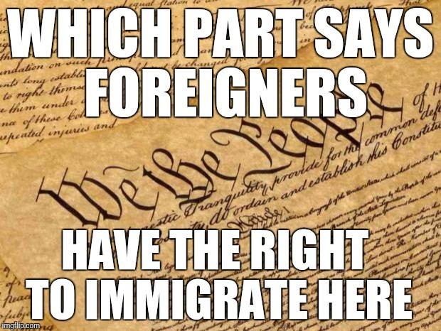 Part constitution deals immigration