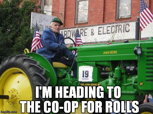 I'M HEADING TO THE CO-OP FOR ROLLS | made w/ Imgflip meme maker