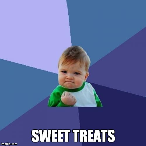 Success Kid Meme | SWEET TREATS | image tagged in memes,success kid | made w/ Imgflip meme maker