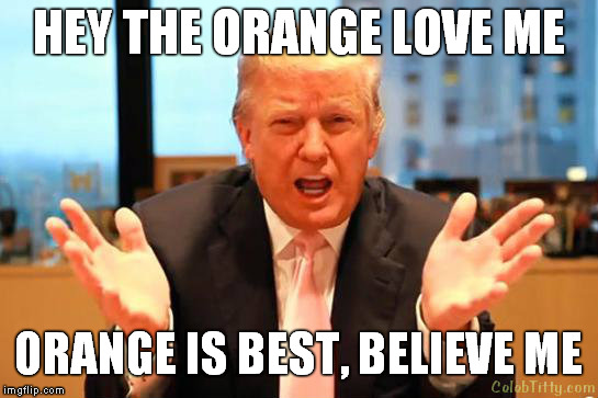 Love Me Meme Funny : Trump loves the orange imgflip