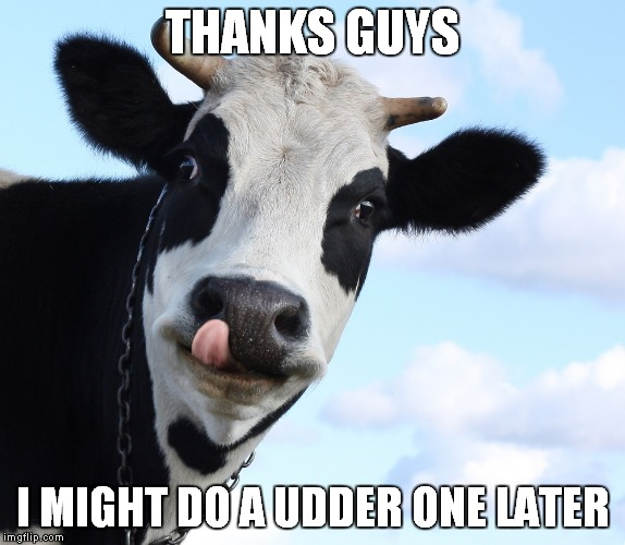 THANKS GUYS I MIGHT DO A UDDER ONE LATER | made w/ Imgflip meme maker