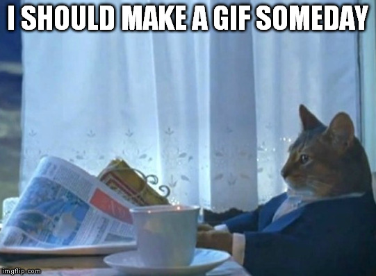 I SHOULD MAKE A GIF SOMEDAY | made w/ Imgflip meme maker