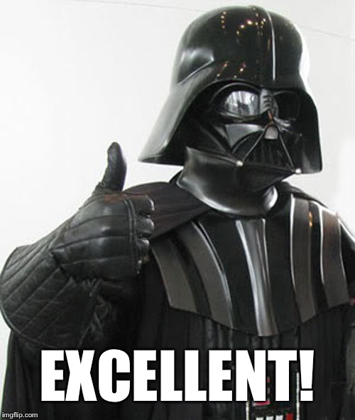 Image result for darth vader thumbs up gif