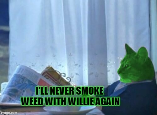I Should Buy a Boat RayCat | I'LL NEVER SMOKE WEED WITH WILLIE AGAIN | image tagged in i should buy a boat raycat,willie nelson,weed,weed jesus,marijuana,fat boy | made w/ Imgflip meme maker