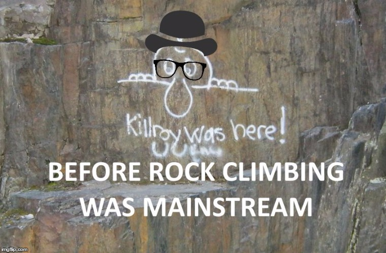 Hipster Kilroy was here... | image tagged in hipster kilroy was here | made w/ Imgflip meme maker