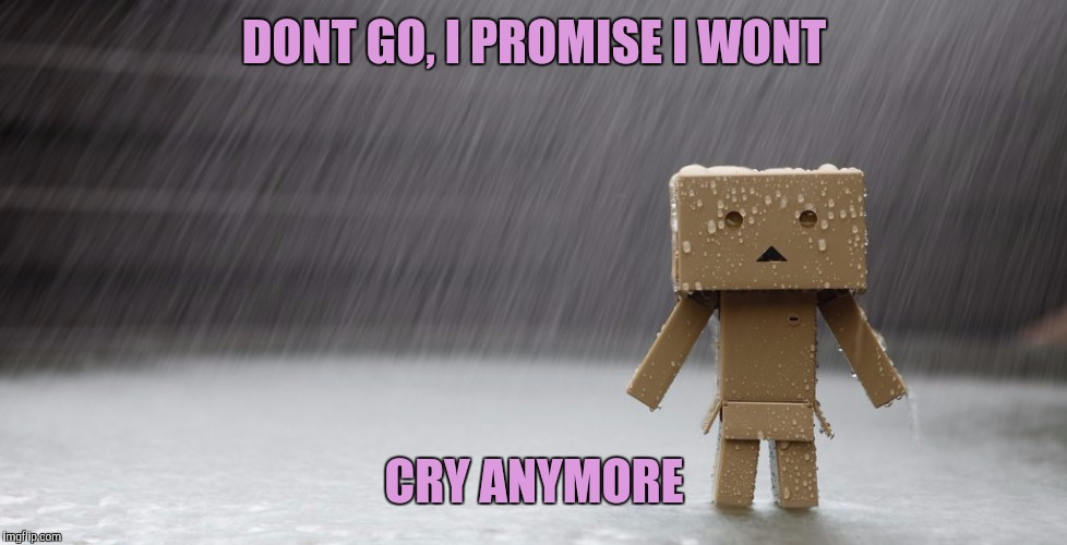 DONT GO, I PROMISE I WONT CRY ANYMORE | made w/ Imgflip meme maker