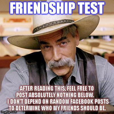 Friendship Test Dumb Fb Tests Imgflip